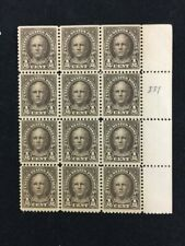 TCStamps Block of 12 1/2 Cent Nathan Hale Scott # 551 w/ Selvage MNH 501