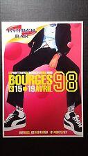 Carte publicitaire 1998 le Printemps de Bourges