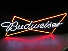 Budweiser Bow Tie Led Opti Neo Neon Beer Bar Sign Light Man Cave Game room Pub