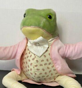 "RARE VTG Beatrix Potter Mr Jeremy Fisher Frog Plush 20"" Eden Toys Stuffed Animal"