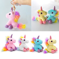 Plush Unicorn Keychain Stuffed Animal Backpack Ornaments Pendant Key Rings