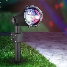 3 LED Kaleidoscope Rotating Party Light Spotlight Multi Coloured Xmas Wedding