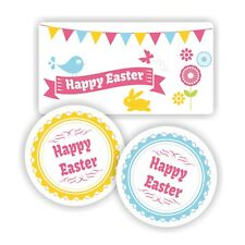 Pasqua adesivo di carta Pack 37mm Arrotonda 63mm x 34mm rettangoli Party Bag imballaggio
