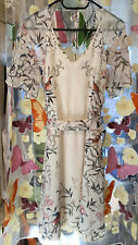 Warehouse floral Bird Print tea dress UK size 14 VGC