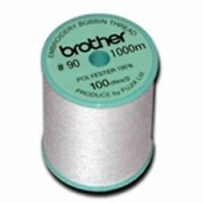 Brother Embroidery Bobbin Thread 90 Weight White Ebpte New