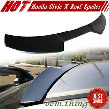 Unpainted Honda Civic X Sedan High V Type Roof Spoiler 2017 DX EX-L LX