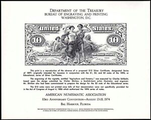 1974 83rd Anniversary Convention Silver Certificate Reproduction  NSC7 SCCS B-29