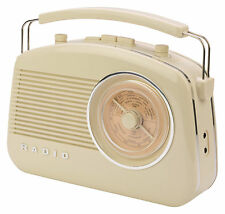 PORTABLE RETRO 1960'S BATTERY & MAINS OPERATED PORTABLE RADIO WITH BLUETOOTH