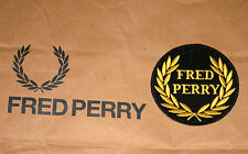 Fred Perry Self Adhesive Black & Yellow Cloth Blazer Badge NEW