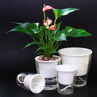 Auto Irrigate Flower Pot Vase Self-Watering Planter Lazy Planting Round Decor