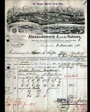 """REMSCHEID (ALLEMAGNE) USINE de MACHINES-OUTILS """"ALEXANDERWERK"""" FONDERIE en 1910"""