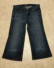 "7 Seven For All Mankind Women's Dojo Capri Jeans Sz 25 EUC 24.25"" waist"