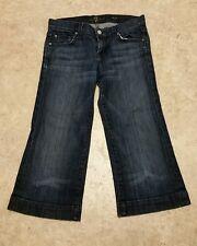 "7 Seven For All Mankind Women's Dojo Capri Jeans Sz 25 EUC 24.25"" waist"