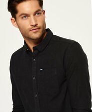 New Mens Superdry Academy Oxford Shirt Onyx Marl