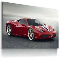 FERRARI GTO  RED Super Sport Cars Wall Canvas Picture ART  AU416 MATAGA .