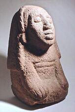 Pre-Columbian AZTEC STONE FEMALE FIGURE  MEXICO w/COA