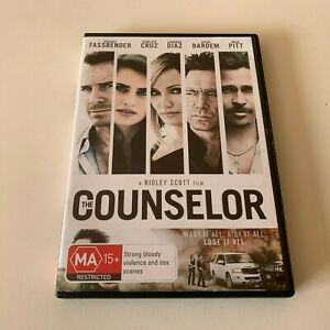 The Counselor - Michael Fassbender - VGC - DVD - R4