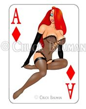 JESSICA RABBIT LINGERIE playing card decal sexy pin-up sticker Guitar Art