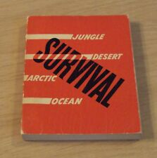 """RARE 1940's WWII U.S. Army Air Forces """"SURVIVAL"""" Guide~ILLUSTRATED~Jungle/Ocean~"""