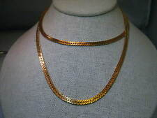 """Vintage Gold tone 30"""" Herringbone 4.5mm wide Necklace - Classic"""