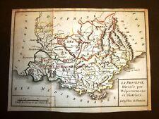 Provenza o Provence Francia Settecentina Carta geografica mappa del 1789 Dulaure
