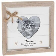 Provence Message Heart Frame Cat Animal Lover Photo Picture Gift Novelty
