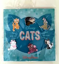 Disney Pin Park Cats 6-Pins Booster Set Figaro Si Am Marie Cheshire More on card