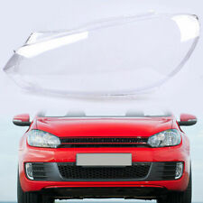 Plastic Left Nearside Fit VW Golf 6 MK6 Headlight Head Lamp Lens Shell Cover