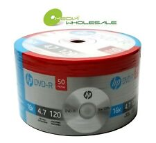 200 HP Blank 16X DVD-R DVDR Logo Branded 4.7GB Disc 4x50pk PROMOTION!!!