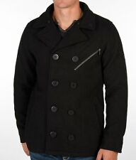 Hurley Black Coto Coat Embroidered Peacoat Men's Large NWD (missing hood) $180