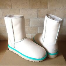 UGG Classic Short II Neon Canvas Suede Sheepskin Boots Size US 9 Womens NIB