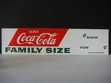 Coca-Cola 1950's original cardboard advertising sign for Family Size Coke NOS