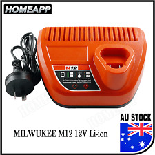 AU Battery Charger For Milwaukee M12 12V Li-ion 4811-2410 C12B C12IW C12ID drill
