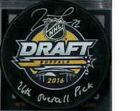 Tage Thompson Autographed Buffalo Sabres Draft Puck