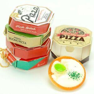 Kawaii Cell Phone Charm Strap Miniature Pizza Box Japanese Plastic Food Keychain