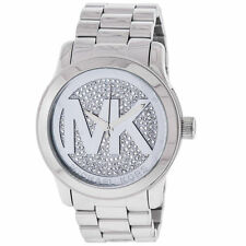 Michael Kors MK5544 Runway Stainless Steel Crystal Dial Women Wrist Watch New