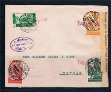 1937  TANGER A TETUAN EDIFIL 133-134-136-137