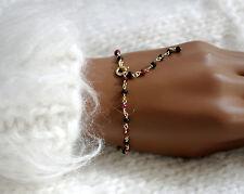Rubin Schwarze Spinell Armband Vergoldet