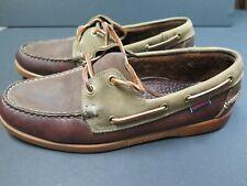 SEBAGO DOCKSIDERS Men's/Women's Gold A/O  Brown Boat Shoe 8 m