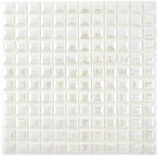 Mosaïque carreau ECO recyclage blanc métallisé cuisine 3DF 350-22_f | 10 plaques