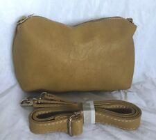 Mustard GENUINE FAUX LEATHER Cross Body/Shoulder Bag / Handbag