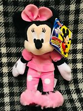"Disney Junior 7"" Soft Toy - Minnie Mouse in pyjamas and slippers"