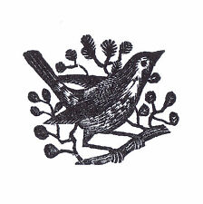 ERIC RAVILIOUS WOOD ENGRAVING BIRD CONSERVATION MOUNTED AND FRAMED