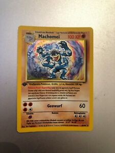 Pokemon Card Machomei / Machamp 8/102 1st edition Holo Base Set - German