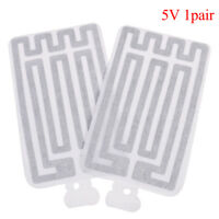 2X USB 5V 8*13CM Warm Heating Heater Winter Warm Plate For Waist Shoes Pad 4H