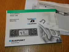 GERMAN bedienungsanleitung BLAUPUNKT TRAVELPILOT RNS 149 RNS149 bosch