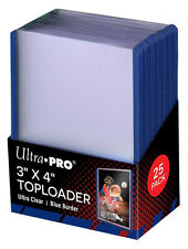 Ultra Pro BLUE TOPLOADER x 25 Rigid Card Protector TOPLOADERS TOP LOADER