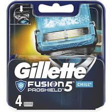 Gillette Fusion5 Proshield Chill Razor Blade 4 Refills Genuine no Fake