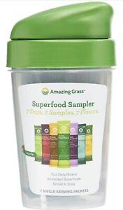 Amazing Grass Green Superfood Sampler: Super Greens Powder with Probiotics