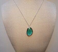 Mercer Loren Blue Tourmaline Obsidian Sterling Silver Pendant Necklace